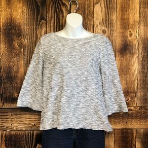 Old Navy - Bell Sleeve Gray Marled Sweater - XS